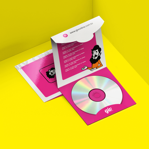 Envelope para CD e DVD com Encaixe