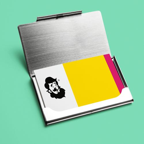 Porta-Cartão de Visita Premium em Alumínio