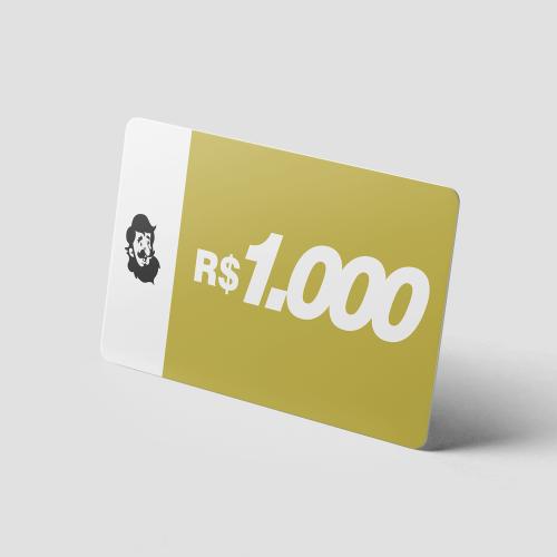 Crédito Pré-Pago de R$ 1.000,00