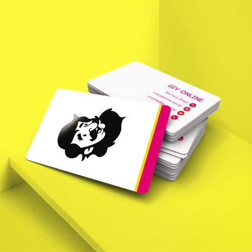 Cartão de Visita em PVC Branco 0,3mm