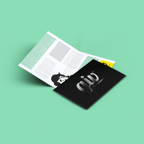 Cartão Duplo em Couché Fosco com Laminação Soft Touch e Hot Stamping