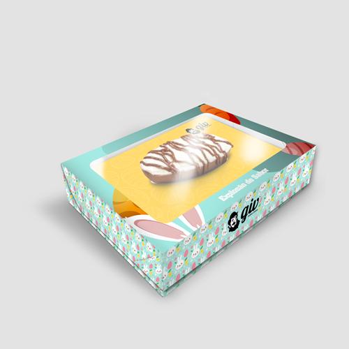 Embalagem Personalizada para Ovo de Colher