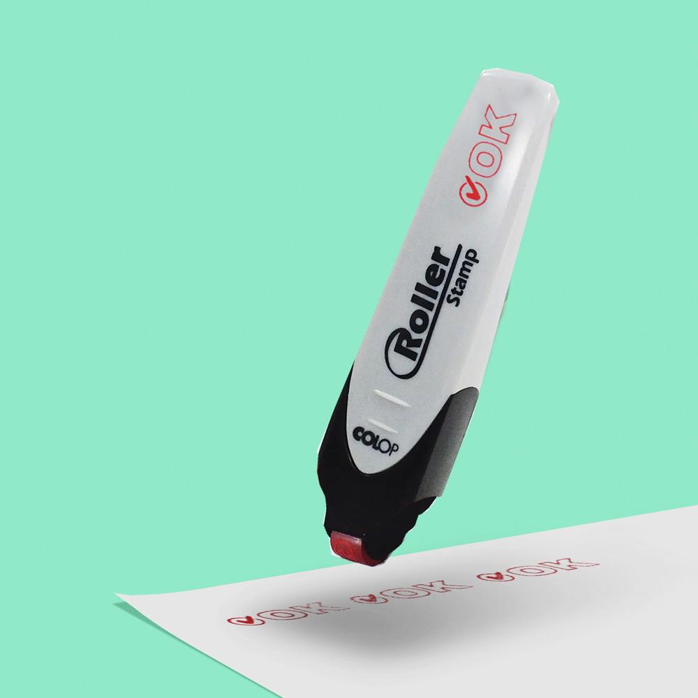 Carimbo Colop Roller Stamp de Plástico