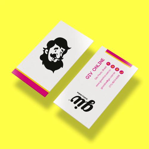 Cartão de Visita em Couché Fosco com Laminação Soft Touch