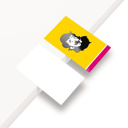 Cartão de Visita em Couché Fosco com Laminação Fosca e Verniz Localizado