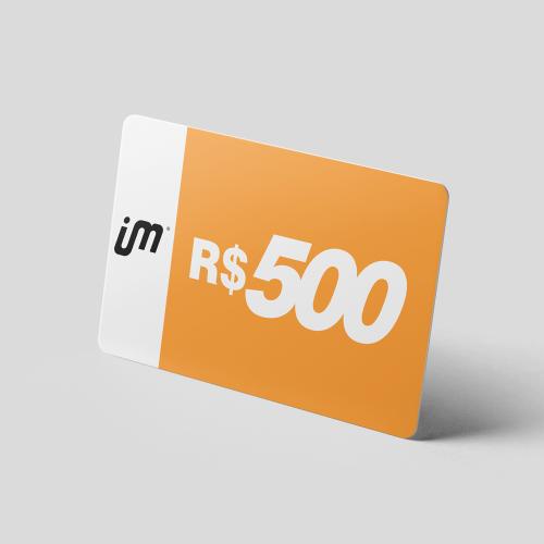 Crédito Pré-Pago de R$ 500,00