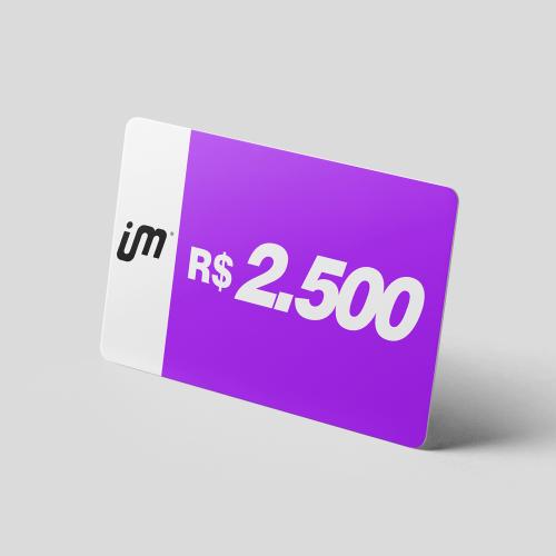 Crédito Pré-Pago de R$ 2.500,00
