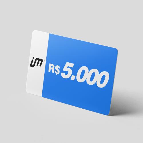 Crédito Pré-Pago de R$ 5.000,00
