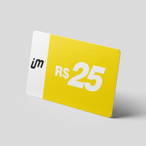 Crédito Pré-Pago de R$ 25,00