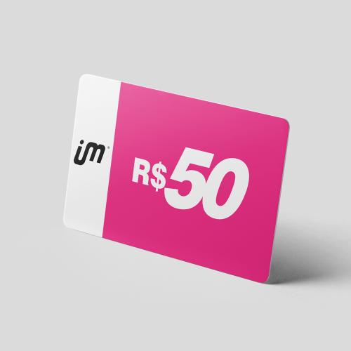 Crédito Pré-Pago de R$ 50,00