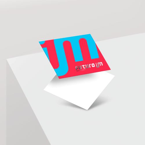 Postal em Couché Fosco com Laminação Soft Touch e Hot Stamping