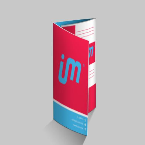 Folder em Couché Brilho 115g/m² com 2 Dobras - FuturaIM