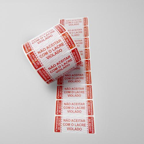 Etiquetas Lacre de Segurança Padrão em Bobina