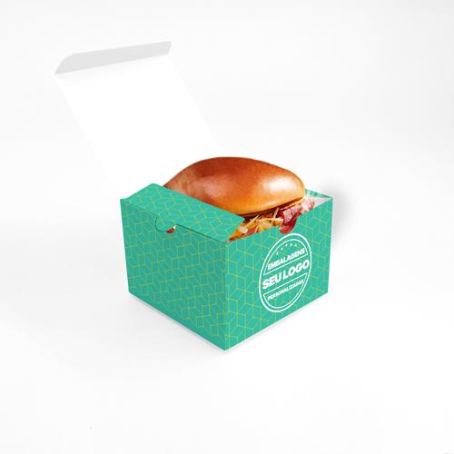 Embalagem para Hambúrguer e Lanche Personalizada