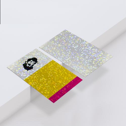 Cartão de Visita em Couché Brilho com Laminação Holográfica